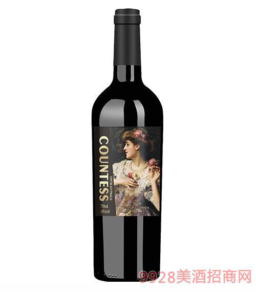 澳大利亞伯爵公主臻選干紅葡萄酒15.5度750ml