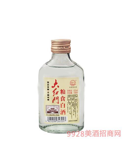 大红门小酒粮食白酒42度100ml