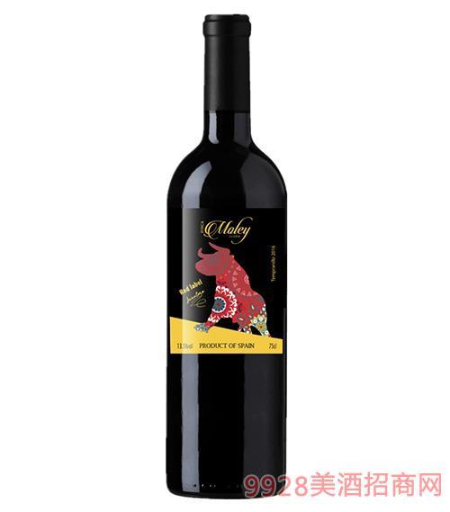 莫雷庄园家族荣耀红标干红葡萄酒13.5度700ml