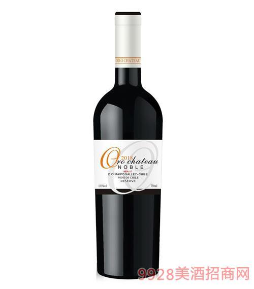 �W洛酒�f�F族干�t葡萄酒13.5度750ml