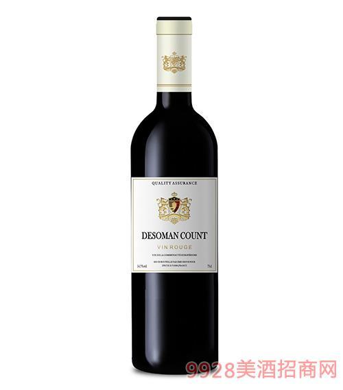 德索曼伯爵干�t葡萄酒14.5度750ml