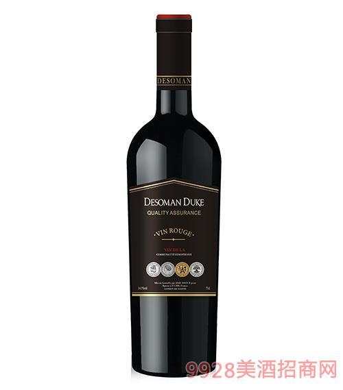 德索曼公爵干红葡萄酒14.5度750ml