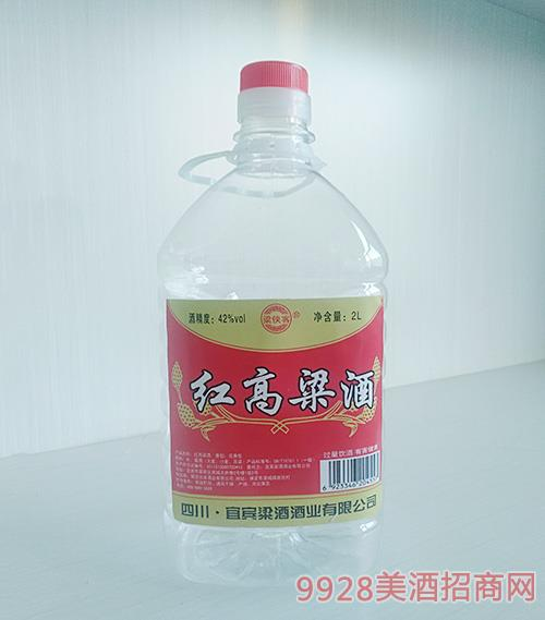 梁侠客红高粱酒42度2L