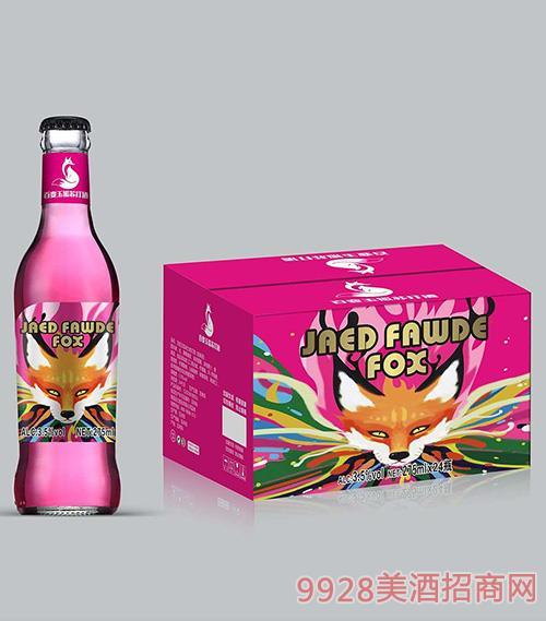 百变玉狐苏打酒3.5度275ml粉瓶