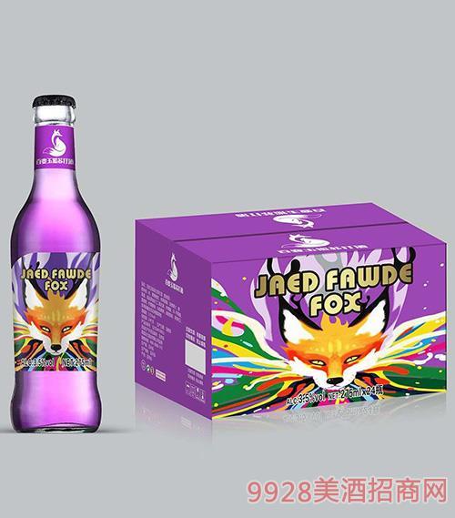 百变玉狐苏打酒3.5度275ml紫瓶