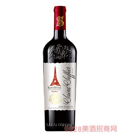 圣索菲尔酒庄·埃菲尔美乐干红葡萄酒13度750ml