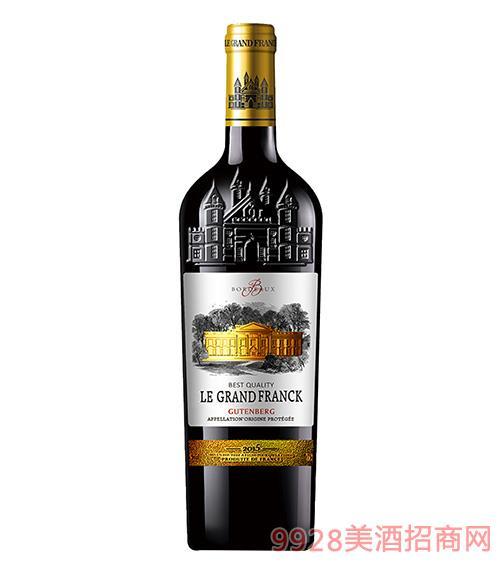 弗朗克曼威干�t 原瓶�M口葡萄酒14度750ml