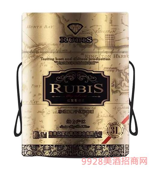 RUBIS利乐桶12度3L黑 红宝石葡萄酒oem