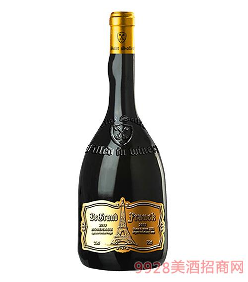 弗朗克�F塔干�t葡萄酒 �M口�t酒13度750ml