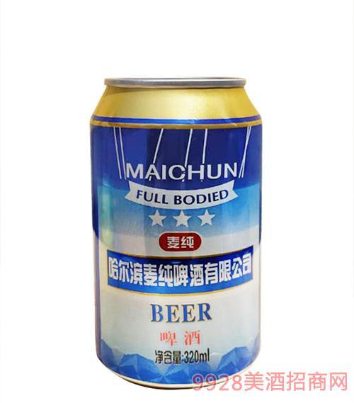 麦纯啤酒320mlx24