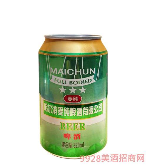 麦纯啤酒320mlx24绿