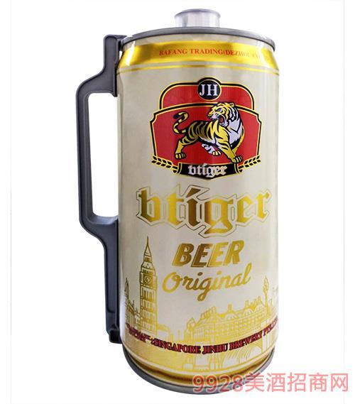 新加坡劲虎啤酒白啤2Lx2