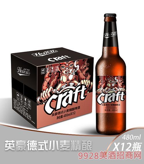 英豪德式小��精�啤酒480ml瓶�b