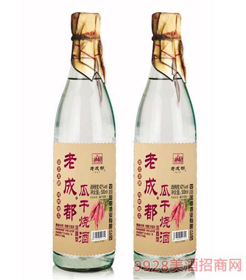 老成都瓜干��酒 地瓜��酒  42度500ml�t��