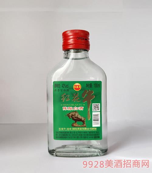 �t花牛��白酒42度100ml(�G�耍�