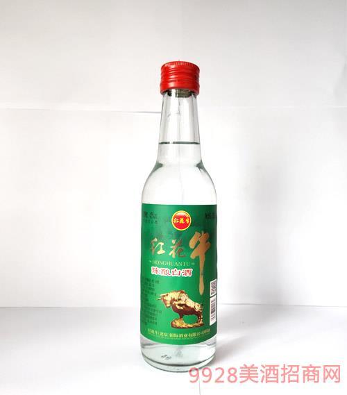 红花牛陈酿白酒42度260ml(绿标)