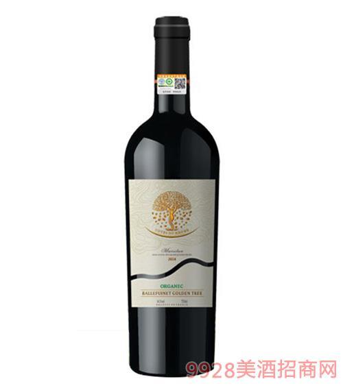 法国柏富维金树有机干红葡萄酒14.5度750ml