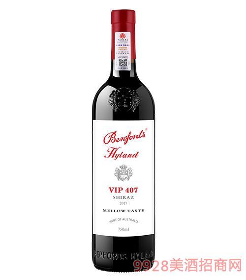 奔富海�m酒�fVIP407干�t葡萄酒