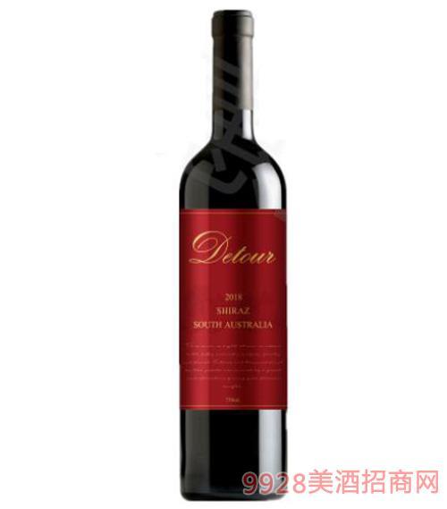 澳洲 帝途2018南澳西拉干紅葡萄酒750ml