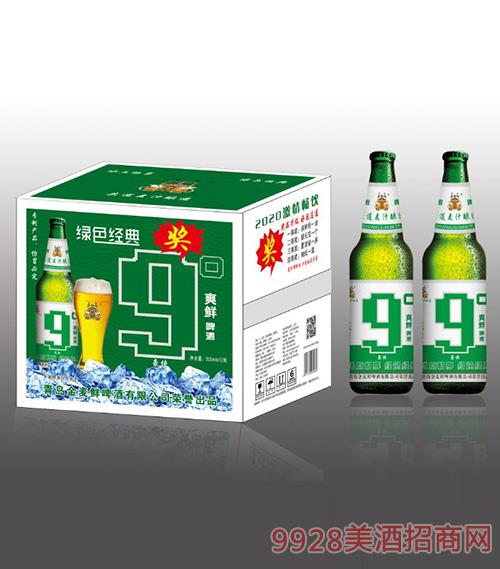 金���r爽�r啤酒�G色�典9度500mlx12