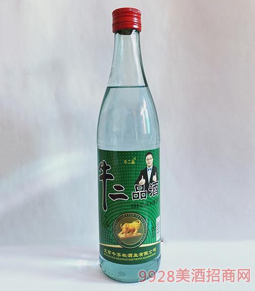 牛二品酒42度500ml 光瓶酒