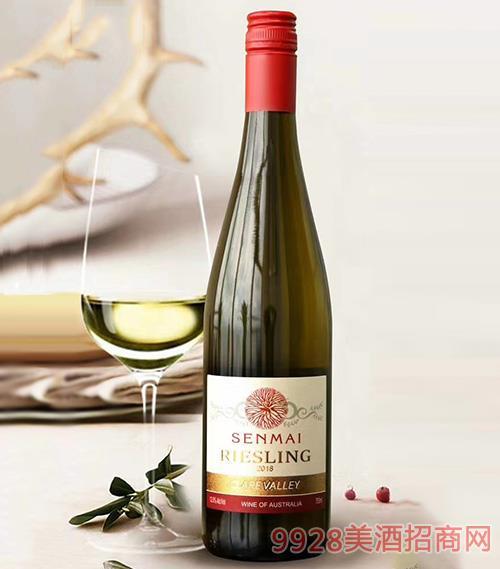 克莱尔谷雷司 令干白葡萄酒12度750ml