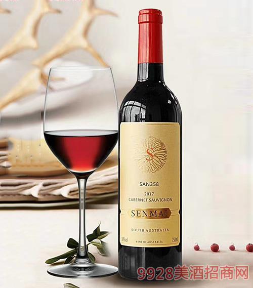 南澳洲赤霞珠干红葡萄酒14度750ml