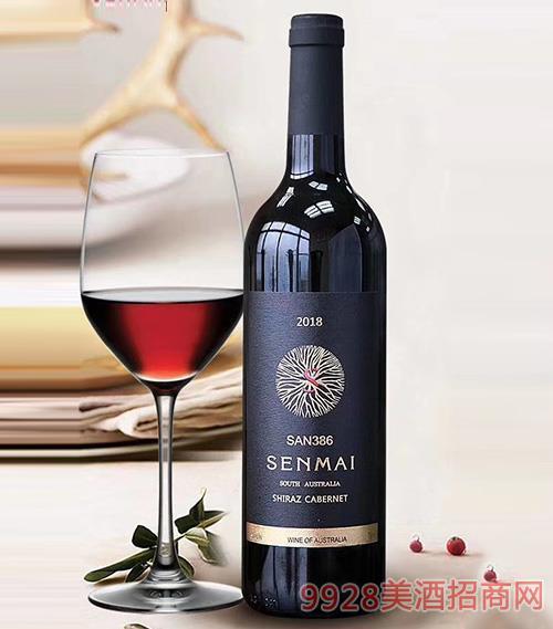 南澳洲西拉子赤霞珠干红葡萄酒14.5度750ml