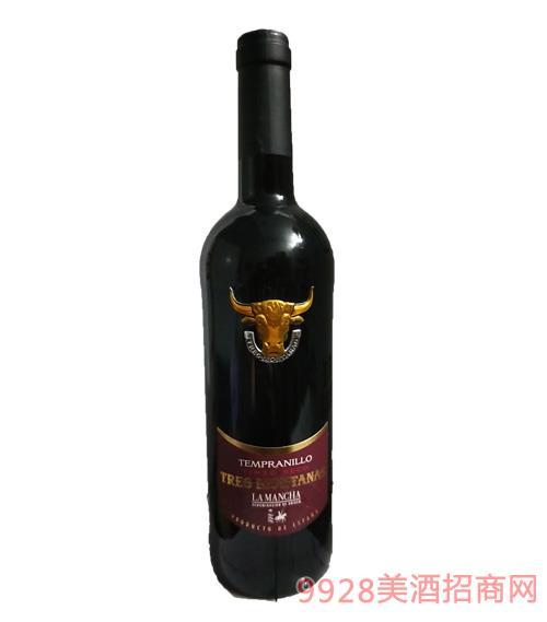 西班牙牛头甜普尼优干红葡萄酒