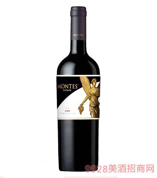 蒙特斯庄园西拉干红葡萄酒13.5度750ml