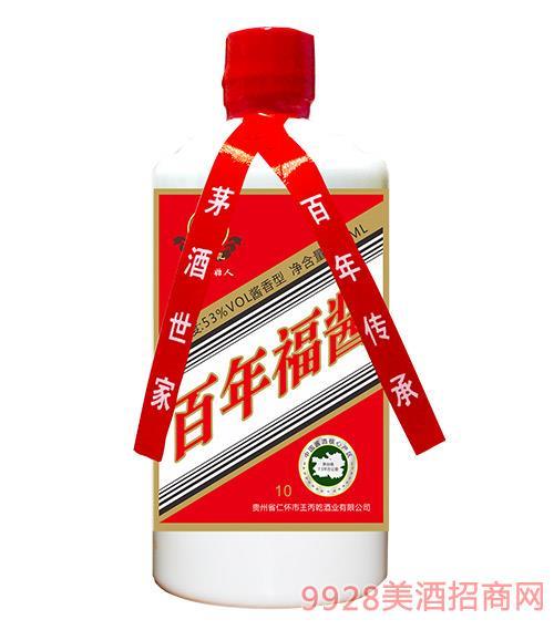 百年福酱酒白瓶1号53度500ml