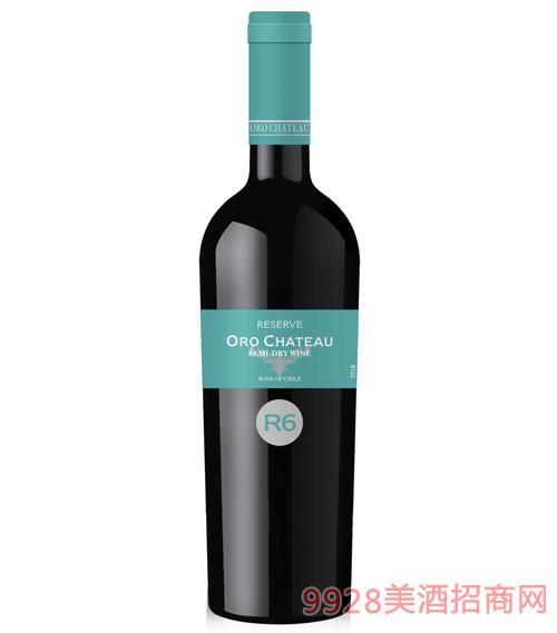 欧洛酒庄珍藏级半干葡萄酒R6