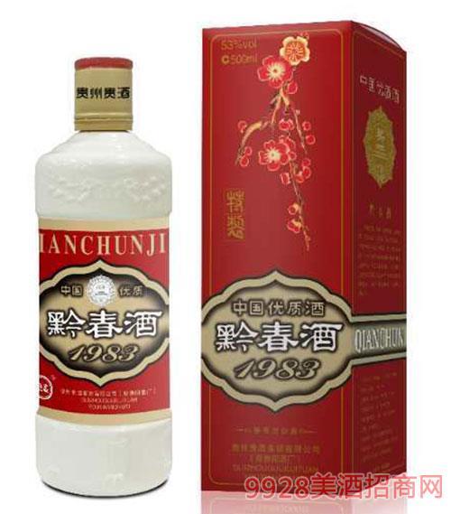 黔春酒53度500ml