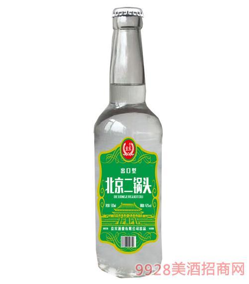 北京二��^酒42度500ml(�G色)