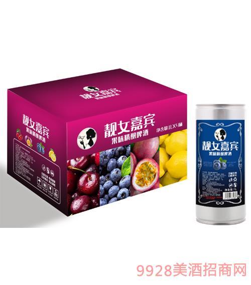 �n女嘉�e果味精�啤酒�{莓味1000ml