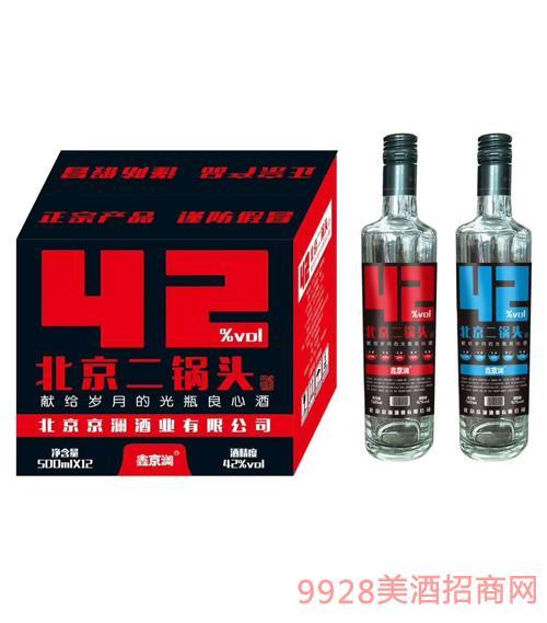 鑫京澜北京二锅头酒42度500ml