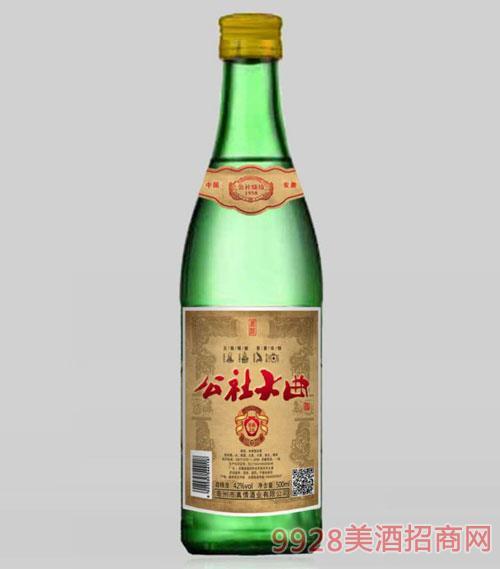 公社大曲酒(绿)42度500ml
