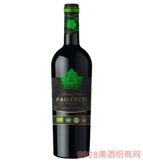 保罗康帝有机干红葡萄酒14度750ml