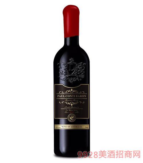 保罗康帝男爵干红葡萄酒15.5度750ml