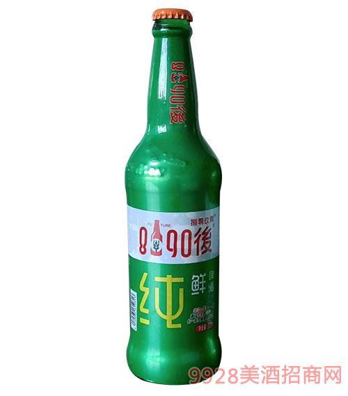 8090后青春活力型啤酒(�G瓶)500ml