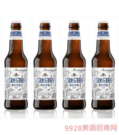 青岛啤酒白啤瓶装