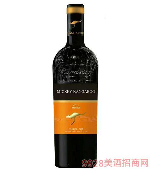 米爵袋鼠・梅洛干�t葡萄酒750ml