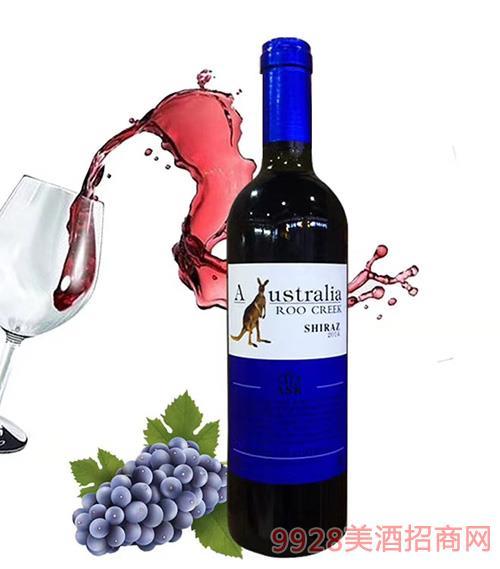 澳谷飞奔袋鼠西拉干红葡萄酒14度750ml