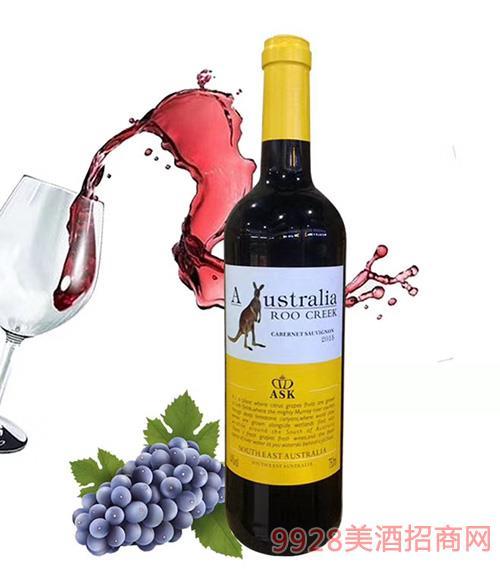 澳谷飞奔袋鼠赤霞珠干红葡萄酒14度750ml