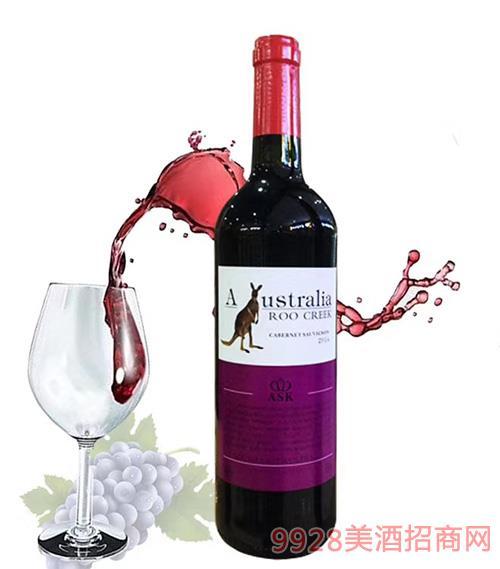 澳谷飞奔袋鼠赤霞珠干红葡萄酒750ml
