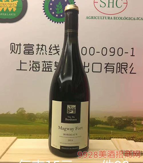 玛格威堡·波尔多特选干红葡萄酒AOP