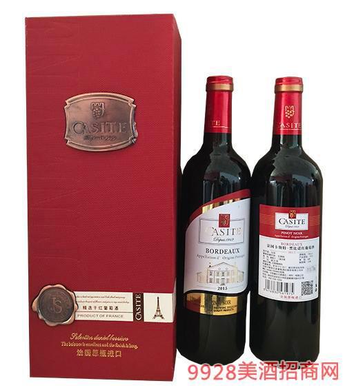 法国卡斯特田园干红葡萄酒