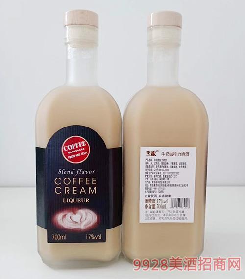 莜蜜牛奶咖啡力�删�-黑��17度700ml