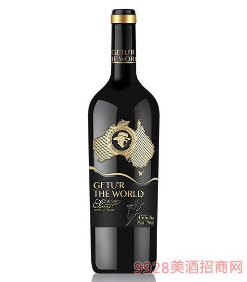 歌圖環球·臻品西拉干紅葡萄酒15度750ml