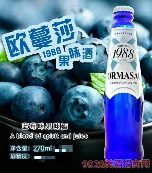 �W蔓莎1988果味酒・�{莓味270ml
